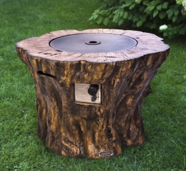 Faux Wood Log Propane Gas Fire Pit Table Ogni