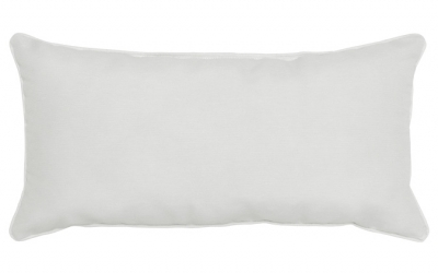 Outdoor White 12x24in Rectangular Accent Throw Pillow Ogni