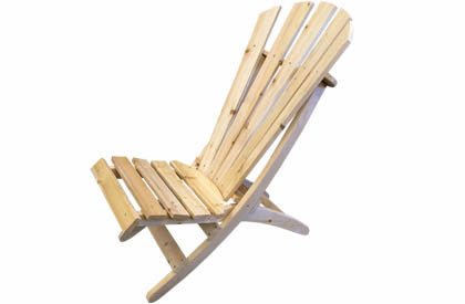 Low seat Adirondack style cottage and camping wood chair
