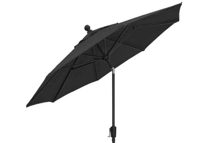 7½ foot black Treasure Garden market umbrella