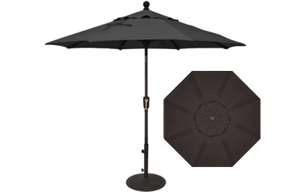 7½ foot black Treasure Garden market umbrella