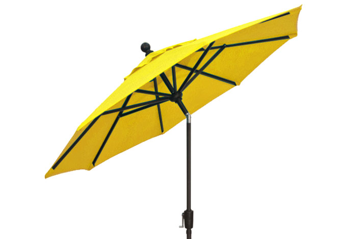 7½ foot lemon yellow market umbrella by Treasure Garden