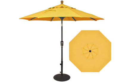 7½ foot lemon yellow market umbrella