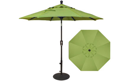 7½ foot lime green market umbrella