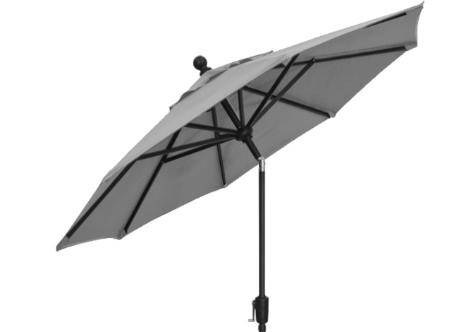 7½ foot silver grey market umbrella