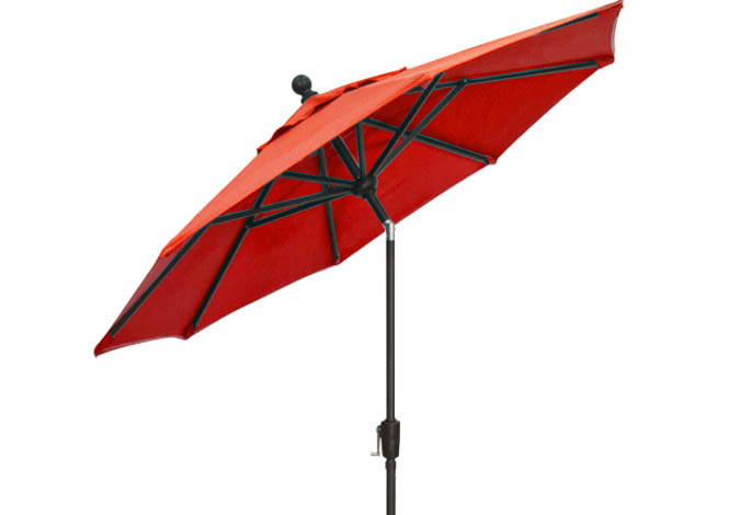 7½ foot red balcony umbrella by Treasure Garden