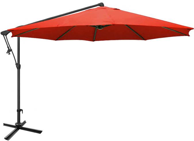 parasol de jardin rouge octogonal d port 10 pieds ogni. Black Bedroom Furniture Sets. Home Design Ideas