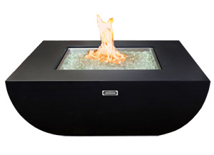 Zen square shaped outdoor firepit table