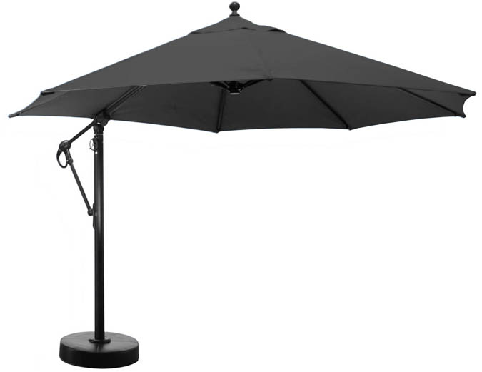 parasol octogonal noir 11 pieds avec tissu sunbrella ogni. Black Bedroom Furniture Sets. Home Design Ideas