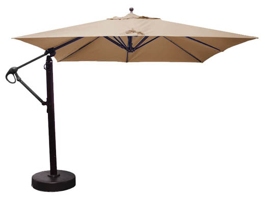 parasol carr d port de 10 pieds avec tissu sunbrella. Black Bedroom Furniture Sets. Home Design Ideas