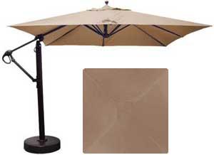 Parasol carré déporté de 10 pieds avec tissu Sunbrella beige