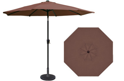 9 foot HRK Patio brown garden umbrella