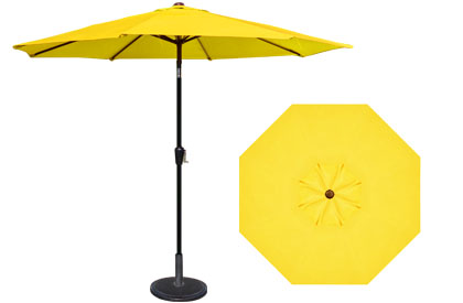 9 foot HRK Patio yellow garden umbrella