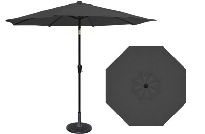 9 foot HRK Patio black garden umbrella