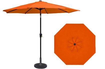 9 foot HRK Patio orange garden umbrella