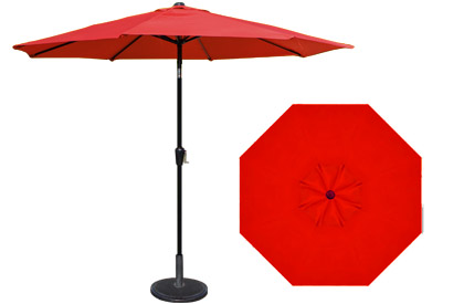 9 foot HRK Patio red garden umbrella
