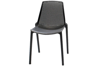 Milan stackable composite plastic outdoor chair for dining table set
