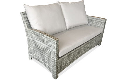 Two seat loveseat outdoor Comfort sofa in Stone grey