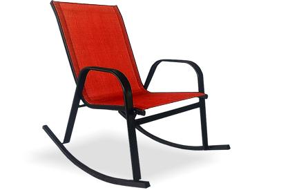 Chaise berçante extérieure rouge Nora