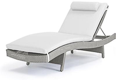 Serena Stone Grey coloured adjustable lounge chair