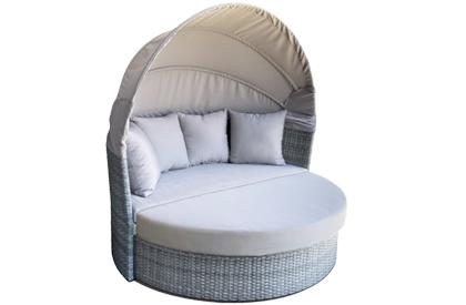 Lit de jour Solea Gris Stone avec canapé rétractable