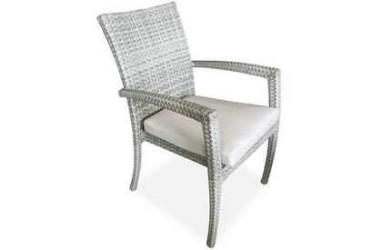 Tecla Stone grey outdoor patio dining chair