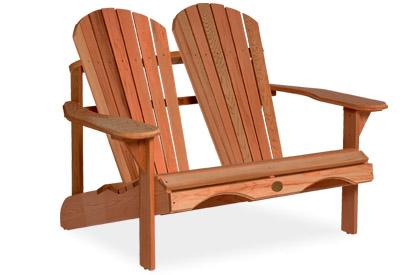 Red Cedar Double Adirondack Chair