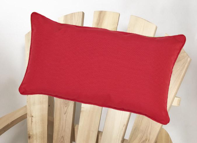 Coussin de tête ou lombaire rouge pour chaise adirondack extérieure