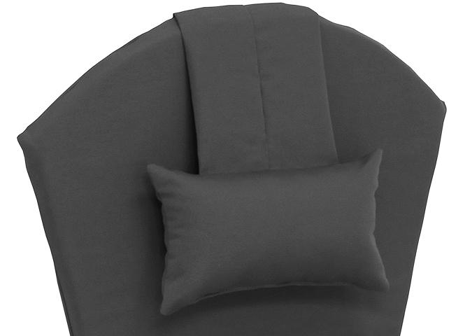 Coussin de chaise adirondack noir avec coussin de nuque