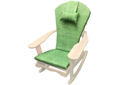 Palm Green Adirondack chair cushion with adjustable head rest pillow