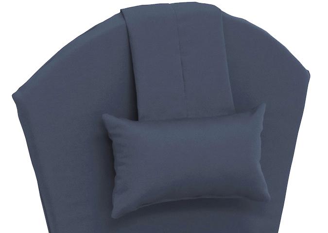 Coussin de chaise adirondack Bleu Marin avec coussin de nuque