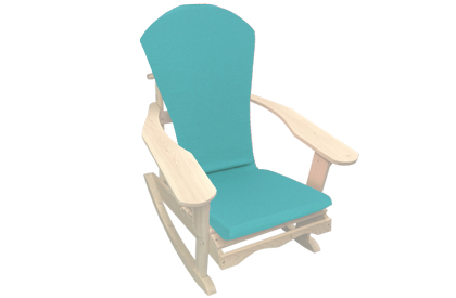 Aqua Blue Adirondack chair cushion