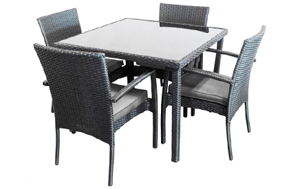 Sorel 5 Piece outdoor dining table and patio chair set