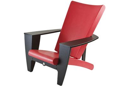 Chaise extérieure rouge moderne avec bras noir
