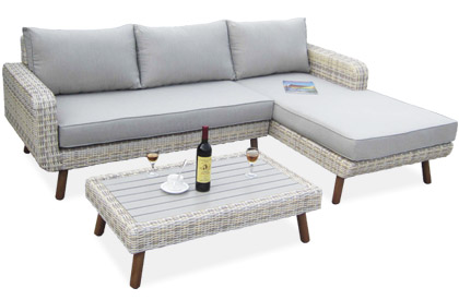 Cape Cod light grey cushion patio outdoor seating set