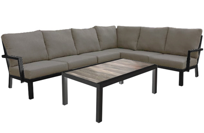 Valencia 5 piece modular interchangeable outdoor furniture sectional seating set