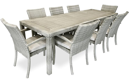 Ciro Stone 8 place outdoor dining table for patio or terrace