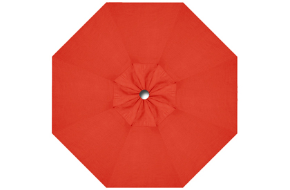 Red replacement canopy fabric for Promo HRK Patio 9 foot octagonal umbrella