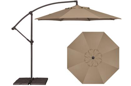 Taupe Beige AG3 Treasure Garden offset 9 foot patio umbrella