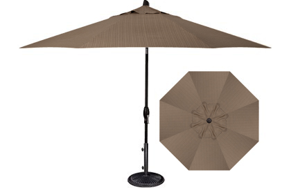 Parasol de patio ou jardin 9 pieds octogonal Beige Canyon Treasure Garden