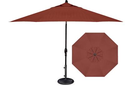 Parasol de patio ou jardin 9 pieds octogonal Rouge Sequoia Treasure Garden