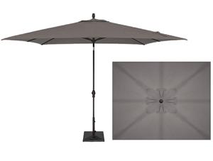Parasol patio style marché rectangulaire Gris Charbon 8x10 pieds