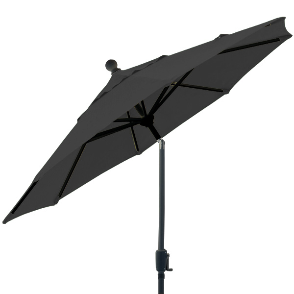 6 foot market style tilting black balcony patio umbrella by Treasure Garden