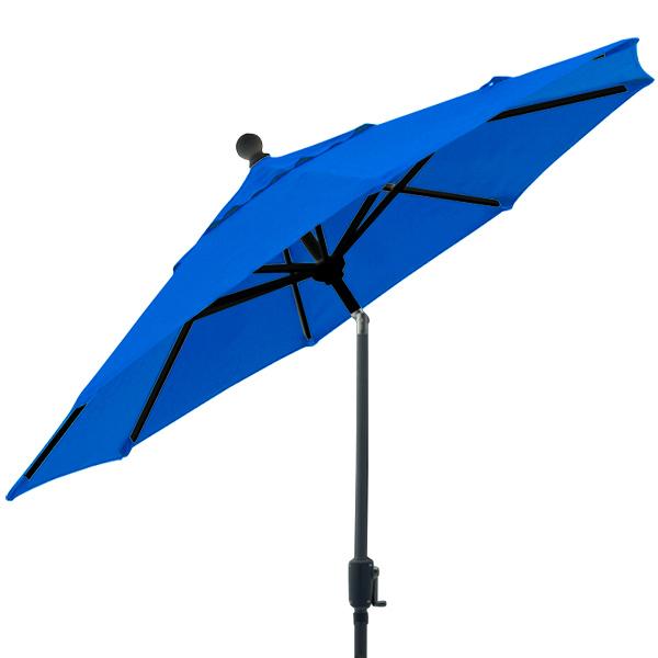Parasol de balcon bleu cobalt 6 pieds octogonal inclinable de style marché Treasure Garden
