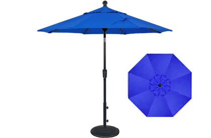 6 foot market style tilting colbalt blue balcony patio umbrella by Treasure Garden