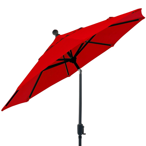 6 foot market style tilting red balcony patio umbrella by Treasure Garden