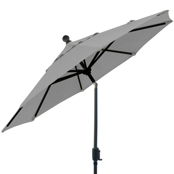 6 foot market style tilting Silver Grey balcony patio umbrella by Treasure Garden