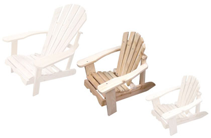 Adirondack chair for kids in Junior format