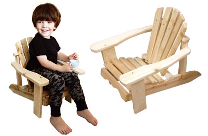 Adirondack chair for kids made for outdoor and indoor - You can paint any colour you like or even leave the wood unfinished.