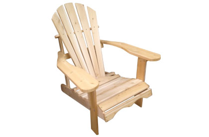 Adirondack chair made of Canadian Cedar wood